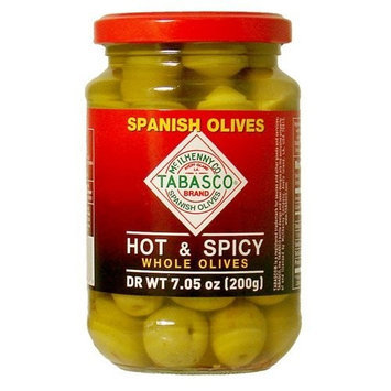 Tabasco Brand Tabasco Whole Olives, Hot and Spicy, 7.05 Ounce
