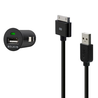 Belkin Micro Auto Charger with Charge Sync Cable