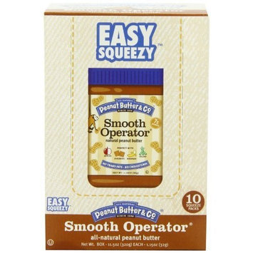 Peanut Butter & Co. Natural Peanut Butter, Smooth Operator Squeeze Packs, 1.15-Ounce Pouches (Pack of 20)