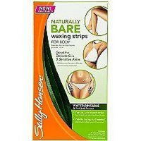 Sally Hansen Naturally Bare Waxing Strips for Body (one box with 34 strips)
