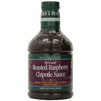 Fischer & Wieser Razzpotle Roasted Raspberry Chipotle Sauce, 40-Ounce Bottle