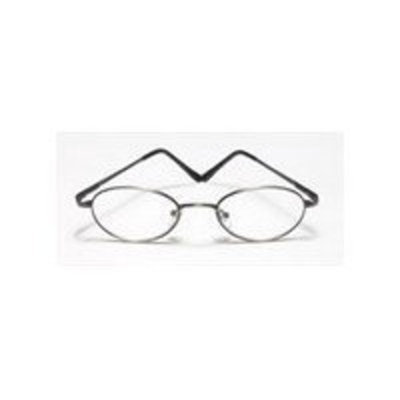 Reading Glasses - 1.50 power Frame Round Metal With Plastic Temple, Size: RR 732
