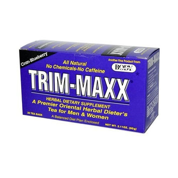 Body Breakthrough Trim-Maxx Herbal Dieters Tea Cran-blueberry, 30 Count