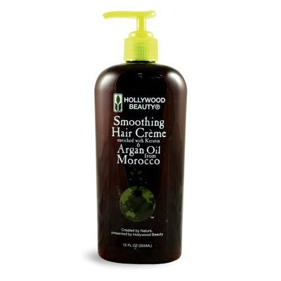Hollywood Beauty Hollywood Argan Oil Smoothing Creme, 12 Ounce