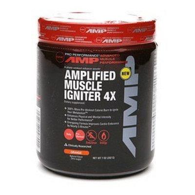GNC AMP MUSCLE IGNITER 4X 7OZ ORANGE