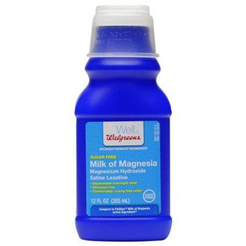 Walgreens Milk of Magnesia, Sugar Free, Regular, 12 fl oz