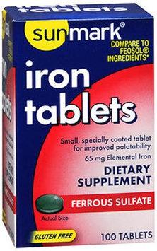 Sunmark Iron Tablets, 100 Tabs by Sunmark
