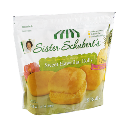 Sister Schubert's Rolls Sweet Hawaiian - 8 CT