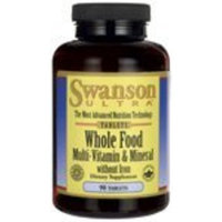 Swanson Ultra Whole Food Multi without Iron 90 Tabs