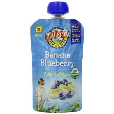 Earth's Best Organic Baby Food Puree, Banana Blueberry, 4.2 Ounce (Pack of 12)