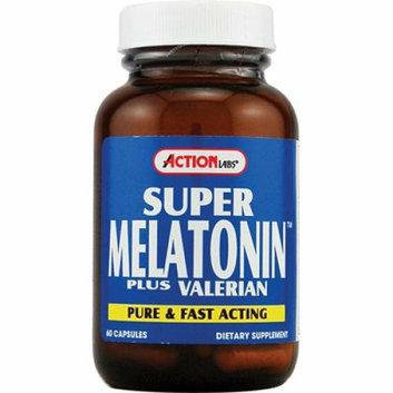 Action Labs Super Melatonin plus Valerian 60 Capsules