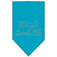 Mirage Pet Products 6782 SMTQ Its All About Me Rhinestone Bandana Turquoise Small