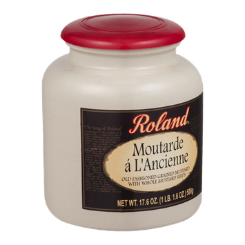 Roland Moutarde a L'Ancienne Old Fashioned Grained Mustard with Whole Mustard Seeds
