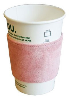Dacasso Limited Inc. Dacasso a9203 Blush Pink Suede Leather Coffee Sleeve