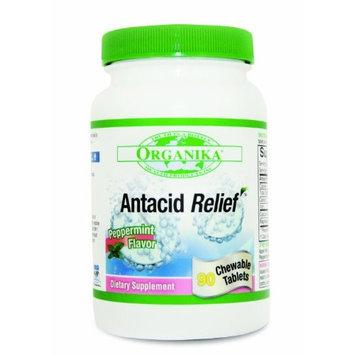 Organika Antacid Relief, Pepperminst Flavor, 90 Cehwable Tablets