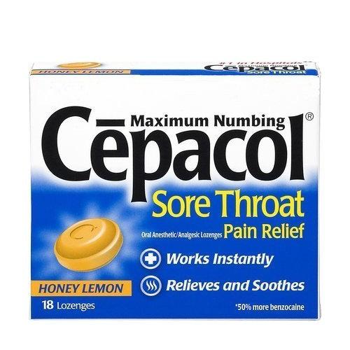 Cepacol Extra Strength Sore Throat Lozenges, Honey/Lemon - 18 Each