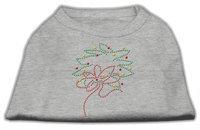 Mirage Pet Products 522515 XXXLGY Christmas Wreath Rhinestone Shirt Grey XXXL 20
