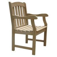 Vifah Hand Scraped Outdoor Armchair - Brown