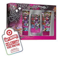 Women's Ed Hardy Hearts & Daggers 3 Piece Gift Set Plus Free