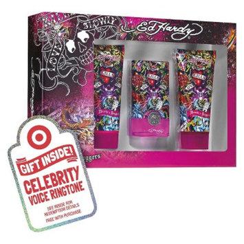 Women's Ed Hardy Hearts & Daggers 3 Piece Gift Set Plus Free
