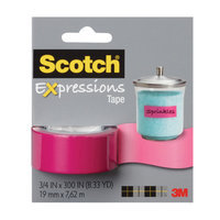 Scotch Expressions Tape, Pink, 3/4 in x 300 in, 1 ea