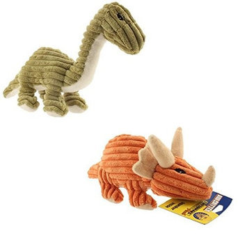 PETSPORT USA Tuff Squeaks Dino Critter Dog Toy