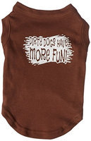 Mirage Pet Products 51-125 MDBR Dirty Dogs Screen Print Shirt Brown Med - 12