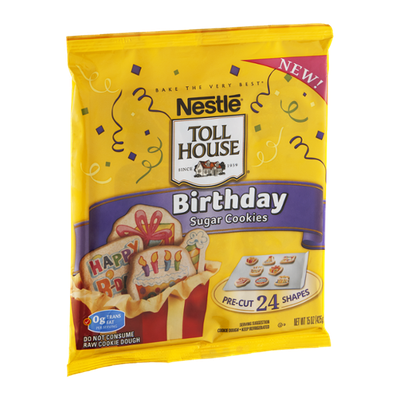 Nestlé Toll House Sugar Cookies Birthday - 24 CT