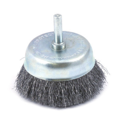 Forney 60006 Cup Brush Fine Crimped Wire with 1/4 Inch Shank 2 1/2 Inch