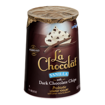 La Chocolat Lowfat Yogurt Vanilla with Dark Chocolate Chips