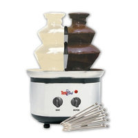 Total Chef Chocolate Fondue Fountain Double Tower