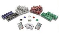 Trademark Global Games Trademark Global Striped Dice Poker Chips Texas Hold Em Set