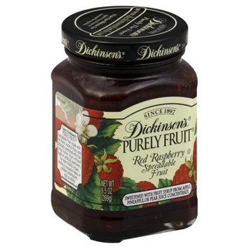 Dickinsons Spreadable Fruit, Red Raspberry, 9.5 OZ (Pack of 6)