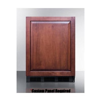 Summit FF6BBI7IF 5.5 Cu. Ft. Custom Panel Undercounter Built-In Compact Refrigerator