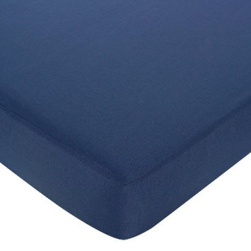 Jo Jo Designs Nautical Fitted Crib Sheet - Dark Blue