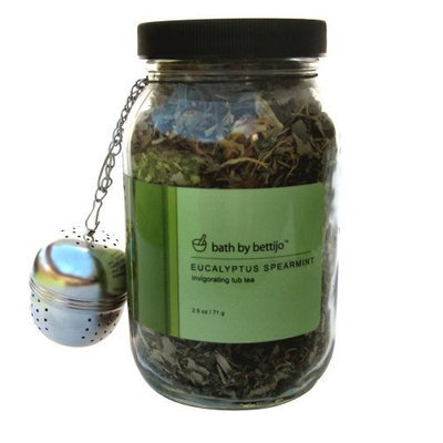 Bath By Bettijo Invigorating Tub Tea, Eucalyptus Spearmint, 2.5-Ounce Jars