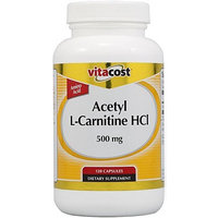 Vitacost Brand Vitacost Acetyl L-Carnitine HCl -- 500 mg - 120 Capsules
