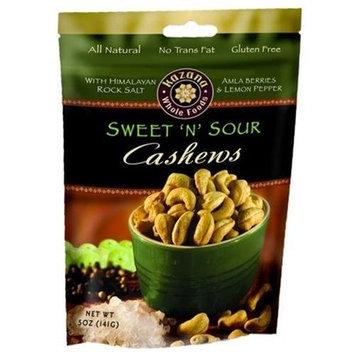 Kazana Whole Foods Exotic Cashews, Sweet N Sour, 5 oz