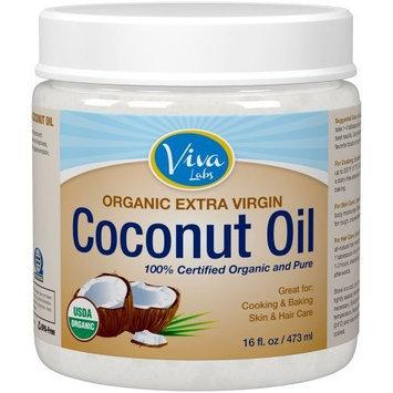 Viva Labs The Finest Organic Extra Virgin Coconut Oil, 16 Ounce [16 Ounce]