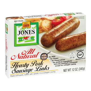 Jones Hearty Pork Sausage Links