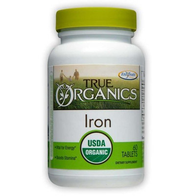 Enzymatic Therapy True Organics Iron Tabs, 60 ct