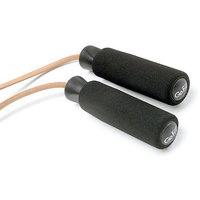 GoFit Leather Jump Rope with Adjustable Foam Handles