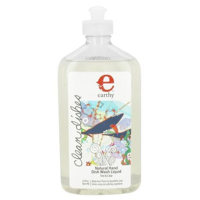 Earthy - Clean Dishes Natural Hand Dish Wash Liquid Free & Clear - 17 oz.