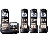 Panasonic KX-TG6592T + (2) TGA659T Titanium Black DECT 6.0+ Amplified