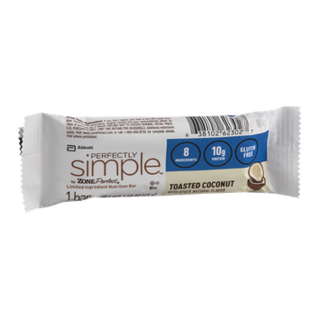 Perfectly Simple by Zone Perfect Nutrition Bar Toasted Coconut