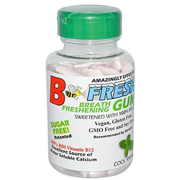 B-fresh Inc B-Fresh Spearmint Flavor Gum, 100 Sugar Free Pieces
