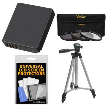 Essentials Bundle for Panasonic DMC-GM1 Digital Camera with DMW-BLH7 Battery + Tripod + 3 UV/CPL/ND8 Filters