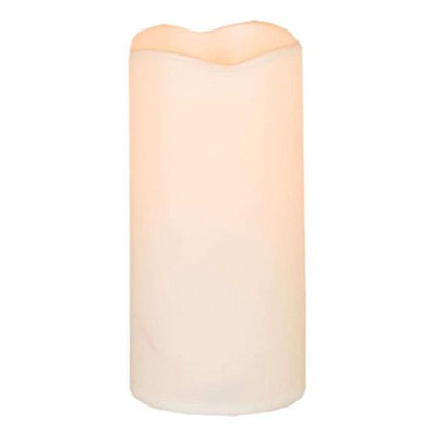 Gerson Company Gerson 42037 3x6 Wax Covered Plastic Candle - Pack of 6