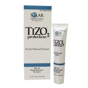 Tizo3 Solar Protection Formula Facial Mineral Fusion SPF 40 ~ Sheer Tint Tinted Sunscreen - LOT of 3
