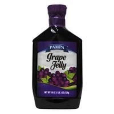 Pampa Jelly, Grape, 19 oz (Pack of 12)